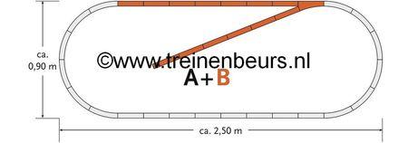 RO 61101 ROCO Geoline met bedding H0 Railset B NIEUW