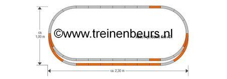 RO 61152 ROCO Geoline met bedding H0 Railset C1 NIEUW