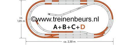 RO 61103 ROCO Geoline met bedding H0 Railset D NIEUW