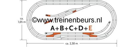 RO 61104 ROCO Geoline met bedding H0 Railset E NIEUW