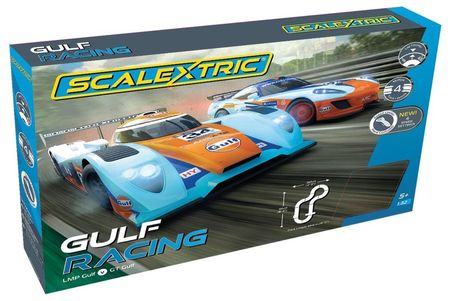 SCALEXTRIC 1384 GULF RACING TEAM GT GULF V TEAM LMP GULF