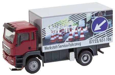 FALLER 161554 VRACHTWAGEN MAN TGS WERKSTATTSERVICEWAGEN (HERPA/RIETZE)