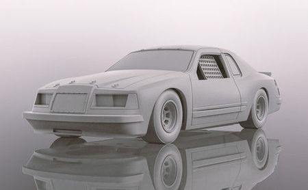 SCALEXTRIC 4077 FORD THUNDERBIRD WHITE (10/19) *