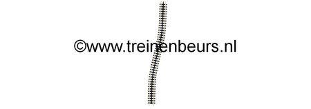 Fleischmann 9119 TANDSTAAFRAILS FLEX. 222 MM. NIEUW