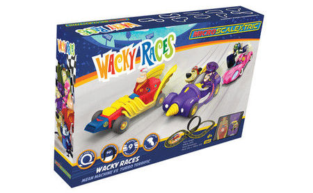 SCALEXTRIC 1142 MICRO SCALEXTRIC WACKY RACES MAINS POWERED (4/19) *
