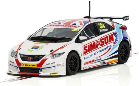 SCALEXTRIC 3915 HONDA CIVIC TYPE R BTCC SIMPSON