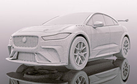 SCALEXTRIC 4042 JAGUAR I-PACE RED (7/19) *