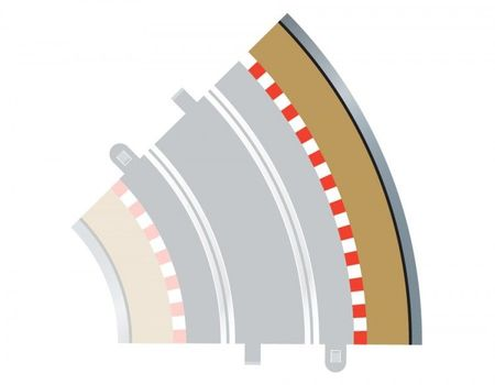 SCALEXTRIC 8228 RADIUS 2 CURVE OUTER BORDERS 45° X 4
