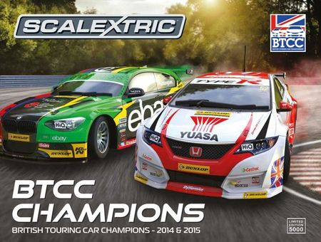 SCALEXTRIC 3694A BTCC CHAMPIONS TWIN PACK BMW 125 & HONDA CIVIC L.D.