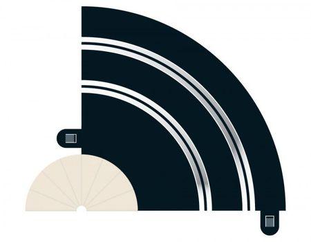 SCALEXTRIC 8201 RADIUS 1 HAIRPIN CURVE 90° X 2