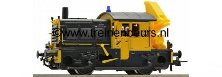"""NS serie 500/600 """"Sik"""" nr. 246geel/grijs met laadkraan NS"""