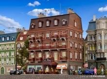 VO 43782 H0 City-Hotel mit Inneneinric