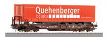 Roco 66975 OBB Draagwagon Quehenberger NIEUW uitloop