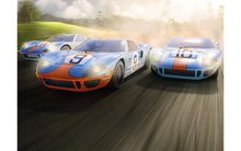 SCALEXTRIC 3896A FORD GT40 1968 GULF TRIPLE PACK L.D.