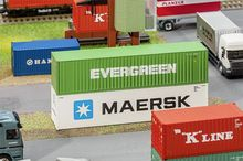 FALLER 180846 40' HI-CUBE CONTAINER EVERGREEN