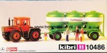 KIBRI 10486 U Tractor met aanhanger met silo's RAIFEISEN