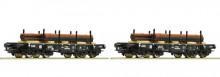 Roco 67133 Nederland Zwaarlast Set van 2 met lading staal NIEUW uitloop
