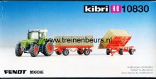 KIBRI 10830 U Tractor met twee aanhangers