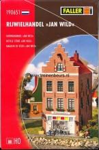 FALLER 190651 U Nederlands# huis- trapgevel Rijwielhandel Jan Wild