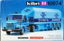 KIBRI 10974 U SCANIA auto met oplegger FLACHGAS (doos minder mooi)