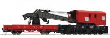 Roco 56240 DB Kraan Met lage bak, rood NIEUW uitloop