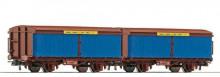 Roco 66054 Zeilwand NS set van 2 zeilwandwagons staaltransport NIEUW