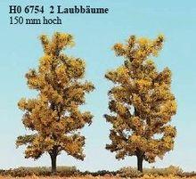 BUSCH 6754 2 LAUBBÄUME 150 MM,HERBSTGELB NIEUW