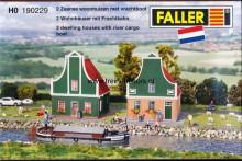 FALLER 190229 Nederlands* huis- Twee Zaanse woningen met vrachtboot NIEUW