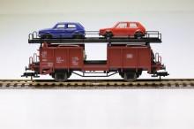 Fleischmann 5225 Autotransporter 2-assig met 4 auto's H0 NIEUW