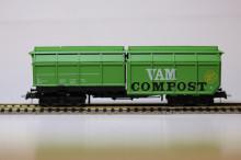 Roco 66025-3 VAM VAM set van 3: 2x VAM COMPOST groen wn 1x VAMORA pot-aarde NIEUW