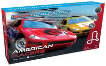 SCALEXTRIC 1098 MICRO SCALEXTRIC AMERICAN RACERS RED NO.6 V YELLOW NO.17