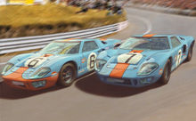 SCALEXTRIC 4041A FORD GT40 1969 GULF TWIN PACK (7/19) *