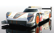 SCALEXTRIC 4061 GINETTA G60-LT-P1 NO 14 WHITE & ORANGE (7/19) *