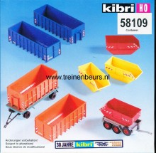 KIBRI 58109 U Set met 8 stort/kiepbakken