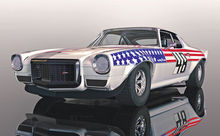 SCALEXTRIC 4043 CHEVROLET CAMARO STARS N STRIPES (1/19) *