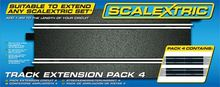 SCALEXTRIC 8526 TRACK EXTENSION PACK 4 4 X STANDARD STRAIGHTS