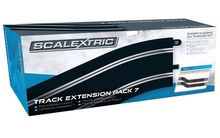 SCALEXTRIC 8556 TRACK EXT. PACK 7 4 X 350MM STR. 4 X RADIUS 3 CURVE 22.5°