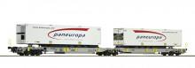 Roco 67394 DB Draagwagin Set van 2 PANEUROPA containers NIEUW uitloop