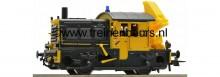 """Roco 72823 NS Diesel serie 200/300 """"Sik"""" nr. 246 geel/grijs met laadkraan NIEUW uitloop"""