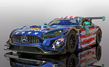 SCALEXTRIC 4023 MERCEDES AMG GT3 RILEY MOTORSPORTS TEAM (4/19) *