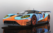 SCALEXTRIC 4034 FORD GT GTE GULF EDITION (4/19) *