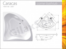 Cada de colt CARACAS 150x150cm