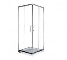 Cabina de dus patrata Square 80x80cm, sticla securizata, profil crom