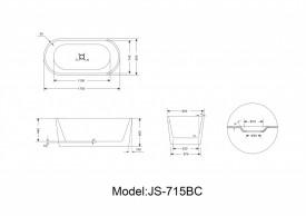 Cada acril freestanding ovala MINERVA 170x80 cm