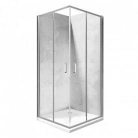Cabina de dus patrata Square 90x90cm, sticla securizata, profil crom