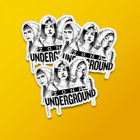 """Pack stickere """"Zona underground"""""""