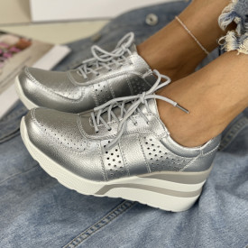 Pantofi Casual Bemos Argintii