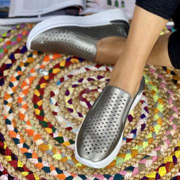 Pantofi Casual Rima Argintii