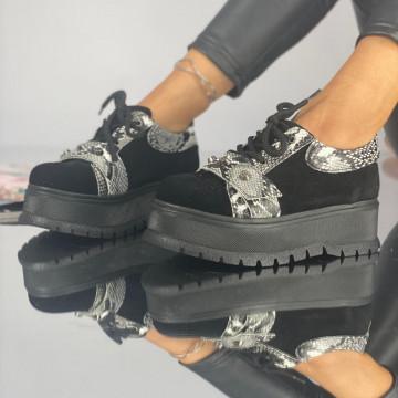 Pantofi Dama Casual Coreca Negri Ylan