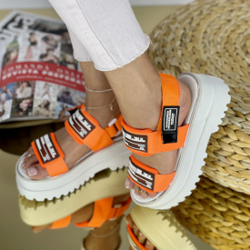 Sandale cu platforma Angina Oranj